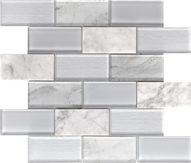Stone Glass Mosaic Tiles |Musivo|Lucca